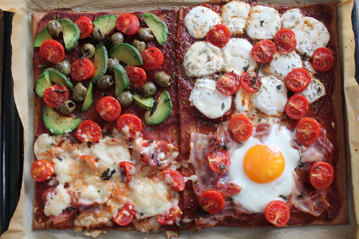 pizza quattro foodies f r veganer vegetarier pal o. Black Bedroom Furniture Sets. Home Design Ideas